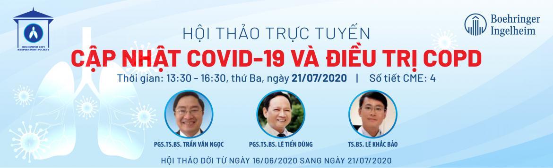 Hội thảo trực tuyến: Cập nhật Covid-19 và điều trị COPD - ngày 21/07/2020